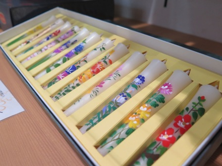 Japanese hand-made candles for each month!